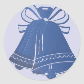 Blue Wedding Bells Envelope Stickers