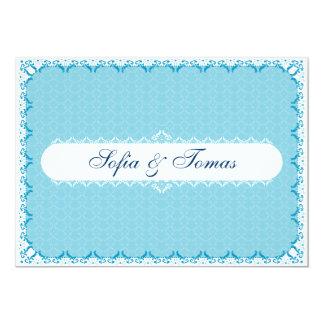 "BLUE - Wedding Invitation 5"" X 7"" Invitation Card"