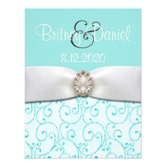 Blue Wedding Invitations 4 25 x 5 5