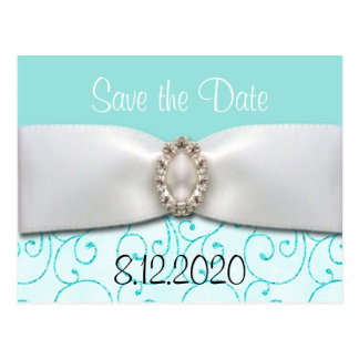 Blue Wedding Save the Date Cards
