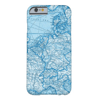 Blue Western Europe World Map Phone Case