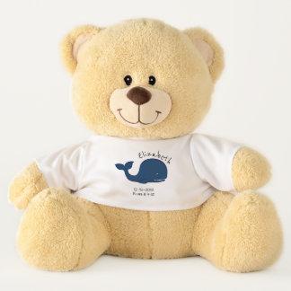 Blue Whale - Birth Memorial / Announcement Teddy Bear