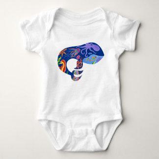 Blue whale, bright marine design, cute whale, fish baby bodysuit