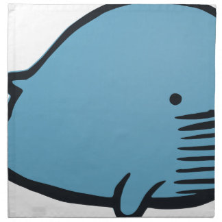 Blue Whale Drawing Napkin