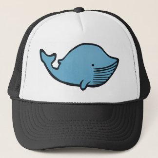 Blue Whale Drawing Trucker Hat