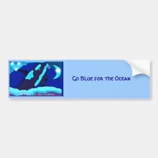 blue whale for the ocean bumper sticker