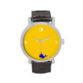 blue whale hour wristwatch