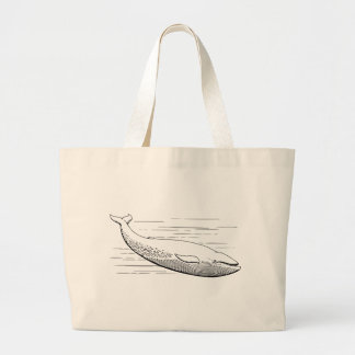 Blue Whale Large Tote Bag