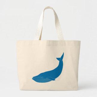 Blue Whale Marine Mammals Wildlife Oceans Jumbo Tote Bag