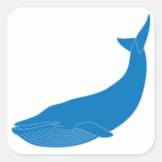 Blue Whale Marine Mammals Wildlife Oceans Square Sticker