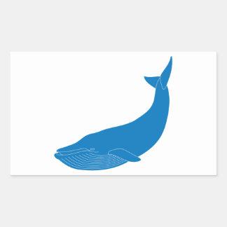 Blue Whale Marine Mammals Wildlife Oceans Rectangular Sticker