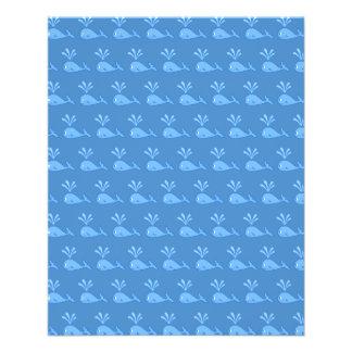 Blue Whale Pattern. 11.5 Cm X 14 Cm Flyer