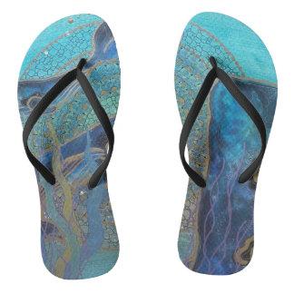 Blue whale thongs