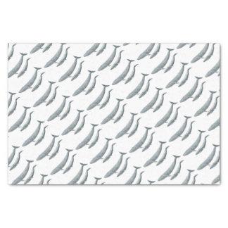 Blue whale tissue paper