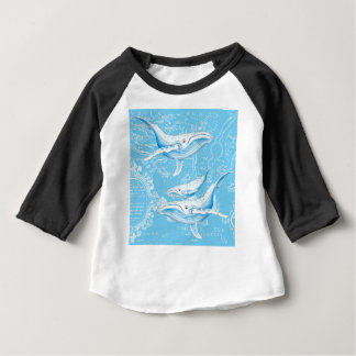 Blue Whales Family Baby T-Shirt
