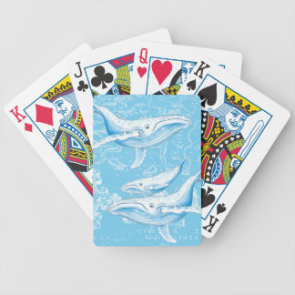 Blue Whales Family Bicycle Playing Cards