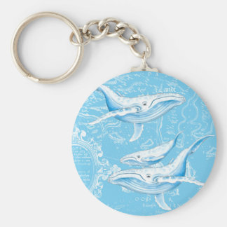 Blue Whales Family Key Ring