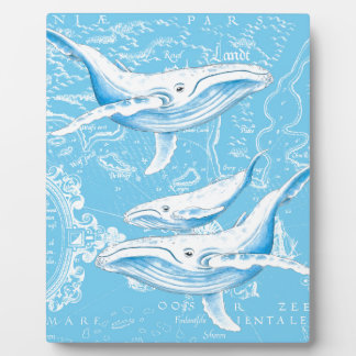 Blue Whales Family Plaque