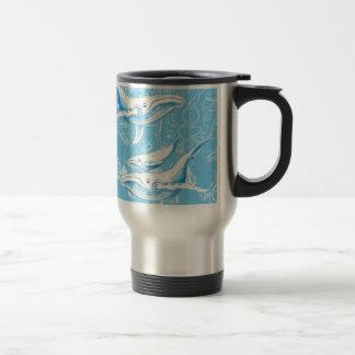 Blue Whales Family Travel Mug