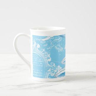 Blue Whales Family Vintage Tea Cup