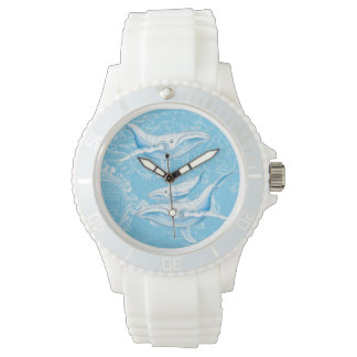 Blue Whales Family Wristwatch
