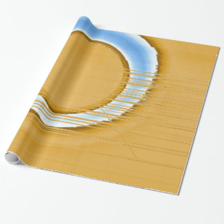 blue wheel wrapping paper