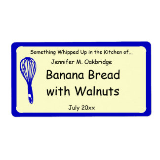 Blue Whisk Personalized Homemade Food Shipping Label