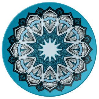 Blue, White and Black Mandala Plates