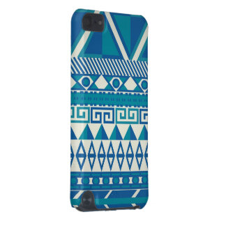 Blue & White Aztec Case iPod Touch (5th Generation) Covers