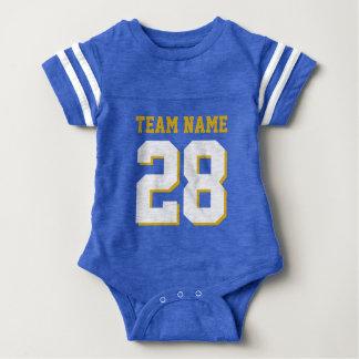 Blue White Baby Football Jersey Sports Romper Baby Bodysuit