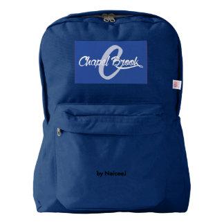 blue/white backpack w/ cb logo