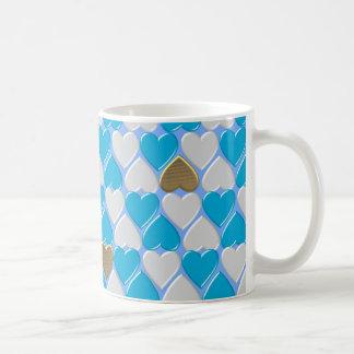 Blue, white Bavarian pattern. Coffee Mug