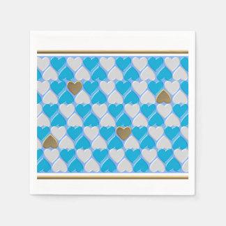 Blue, white Bavarian pattern. Disposable Serviette