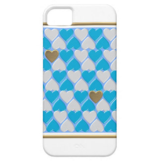 Blue, white Bavarian pattern. iPhone 5 Cover
