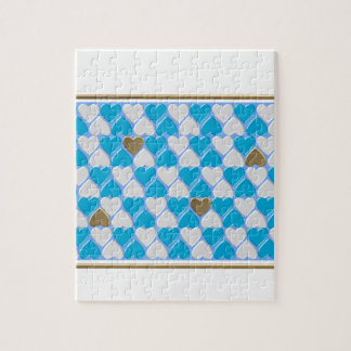 Blue, white Bavarian pattern. Jigsaw Puzzle