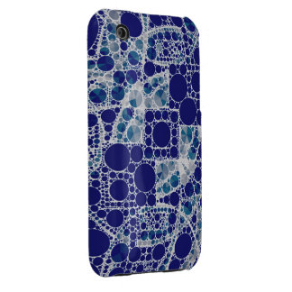 Blue White Bling iPhone 3 Cases