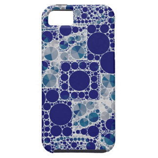 Blue White Bling iPhone 5 Cover