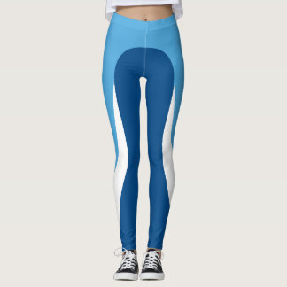 Blue/White/Blue Pattern Leggings