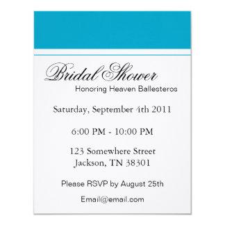 Blue & White Bridal Shower Invitations