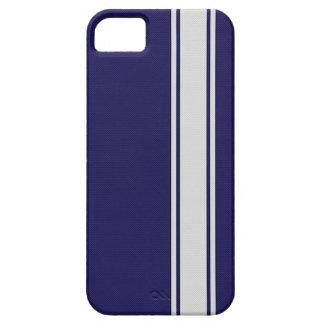 Blue & White Carbon Fiber Stripes iPhone 5 Case