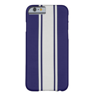 Blue & White Carbon Fiber Stripes iPhone 6 case Barely There iPhone 6 Case