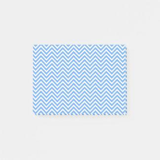Blue & White Chevron Design Post-It Notes