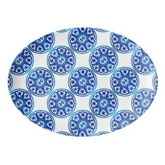 Blue White China Pattern 13x9 Platter