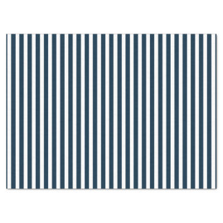 Blue & White Christmas Candy Cane Pattern Tissue Paper