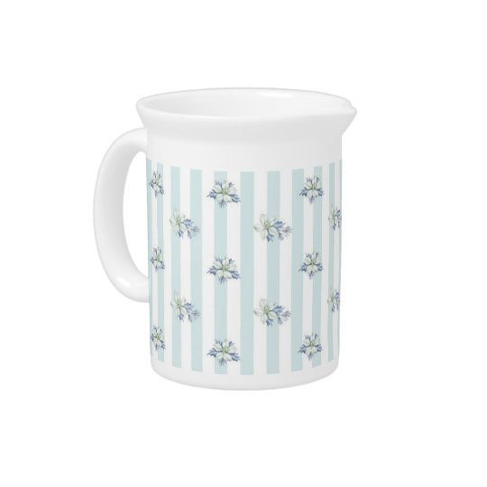 Blue & White Christmas Pitcher