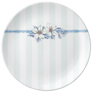 Blue & White Christmas Porcelain Plate