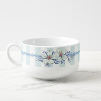 Blue & White Christmas Soup Cup