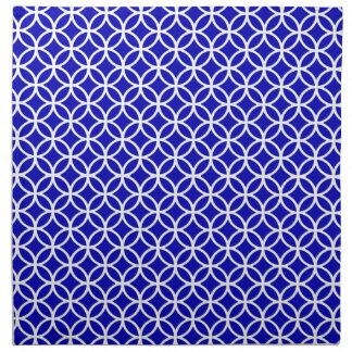 Blue White Circle of Life Napkin