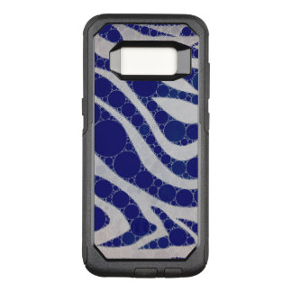 Blue White Circle Zebra Abstract OtterBox Commuter Samsung Galaxy S8 Case