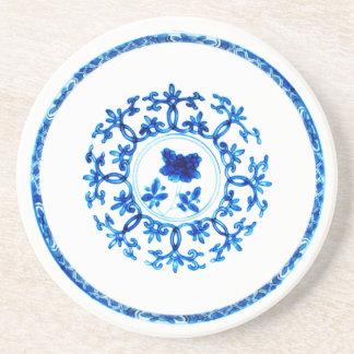Blue White Coaster